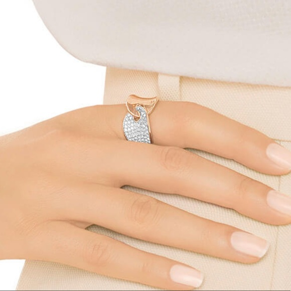 ec8176b495f55 Swarovski GUARDIAN RING Rose Gold Ring sz 6 NWT